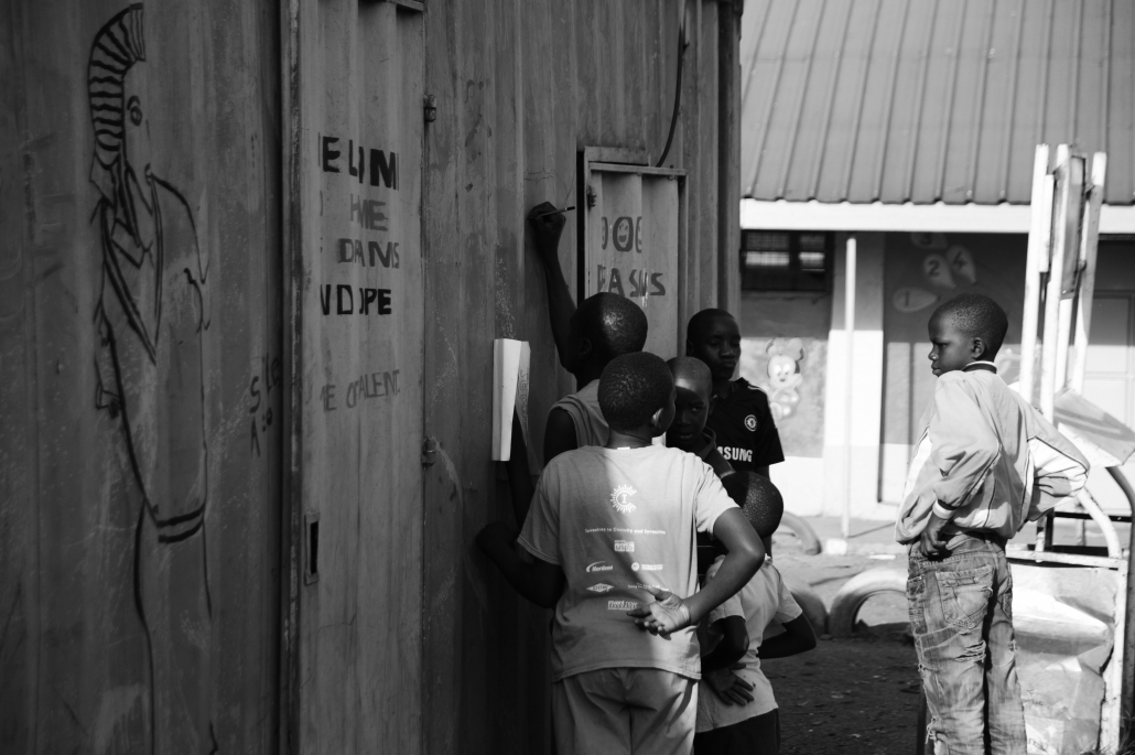 Around the container the kids can have fun as well.